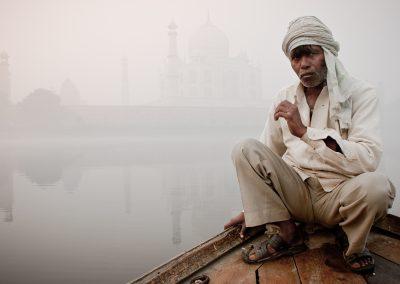 Boatman at the Taj Mahal