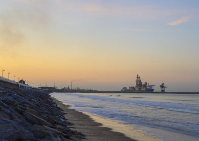 Steelworks seascape
